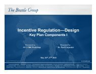 Incentive Regulation—Design: Key Plan ... - The Brattle Group