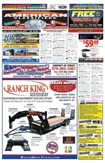 American Classifieds/Thrifty Nickel June 14th Edition Bryan/College Station