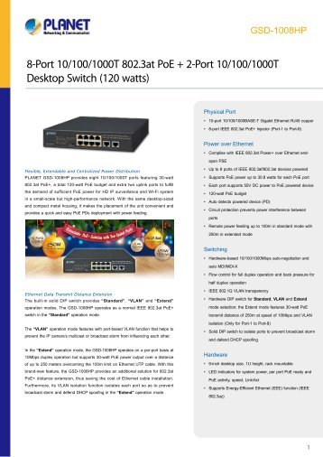 PLANET_Datasheet_Desktop-Switch_GSD-1008HP_2017_EN_