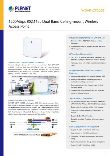 PLANET_Datasheet_Wirelees-Access-Point-WDAP-C7200E_2018_EN
