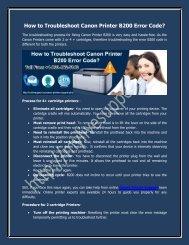 How to Troubleshoot Canon Printer B200 Error Code?