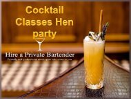 Cocktail Classes Hen Party- Learn Cocktail Mixing With Us