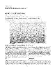 West Nile virus: the Indian scenario