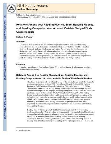 Dibels Oral Reading 68