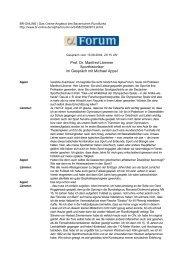 Prof. Dr. Manfred Lämmer Sporthistoriker im Gespräch mit ... - 1