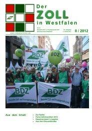 Personalratswahlen 2012 - auf der Homepage des BDZ Westfalen!