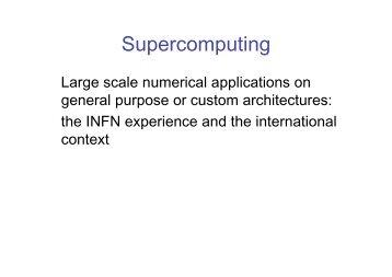 Supercomputing - Infn