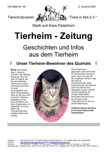 10 free magazines from tierheim paderborn info. Black Bedroom Furniture Sets. Home Design Ideas