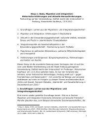 1 Klaus J. Bade, Migration und Integration - Stadt Freiburg im Breisgau