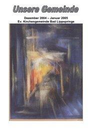 2004-5 - Evangelische Kirche Bad Lippspringe