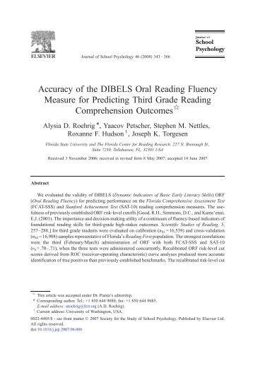 effectiveness of dibels Dibels next district: test district c grade: kindergarten year: 2010-2011 effectiveness of instructional support levels beginning of year to middle of year.