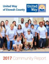 United Way of Etowah County — 2018 Community Report