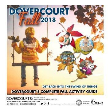 DOVERCOURT FALL 2018 Program Guide