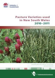 Pasture varieties used in New South Wales 2010-2011 - NSW ...