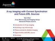 X-ray microscopy - ERL