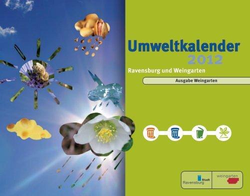 Umweltkalender 2012 - Stadt Weingarten