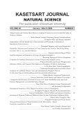 kasetsart journal natural science - Page 3