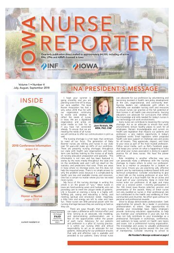 Iowa Nurse Reporter - July 2018