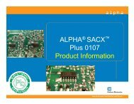 ALPHA SACX Plus 0107 Product Information