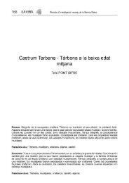 Hisn Tàrbana-El castell de Tàrbena a la baixa edat mitjana.