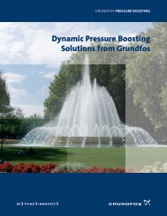 Dynamic Pressure Boosting Solutions from Grundfos