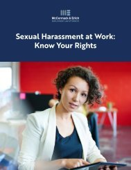 Sexual Harassment at Work: Know Your Rights.