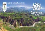 Programa del 193 Aniversario de la Provincia de Caylloma