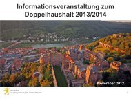 OB-Präsentation bei Infoveranstaltungen (PDF ... - Stadt Heidelberg