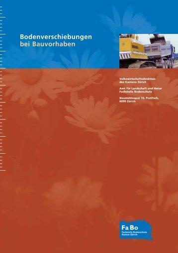 Bodenverschiebungen bei Bauvorhaben - Amt für Landschaft und ...