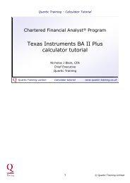 Texas Instruments BA II Plus calculator tutorial - Quartic Training