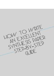 How to Write an Excellent Synthesis Paper: Step-by-Step Guide