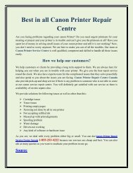 Best in all Canon Printer Repair Centre