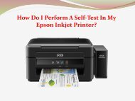 How Do I Perform A Self-Test In My Epson Inkjet Printer?