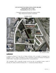 Planning Board Case No. 791CC - City of West Palm Beach