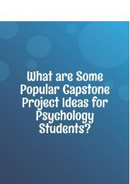 What are Some Popular Capstone Project Ideas for Psychology Students