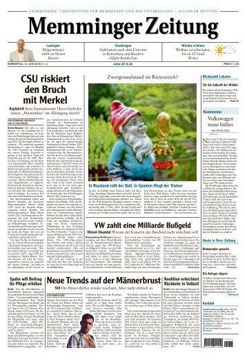 Memminger Zeitung vom 14. Juni 2018