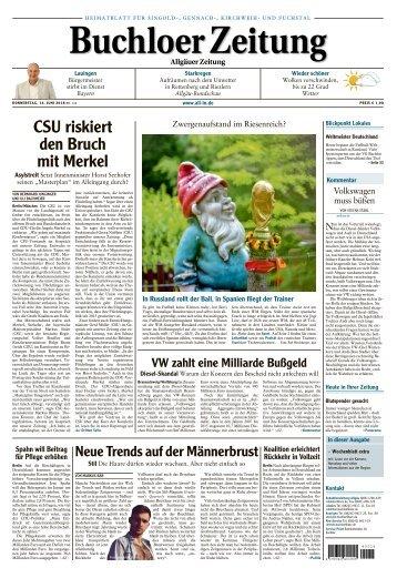 Buchloer Zeitung vom 14. Juni 2018