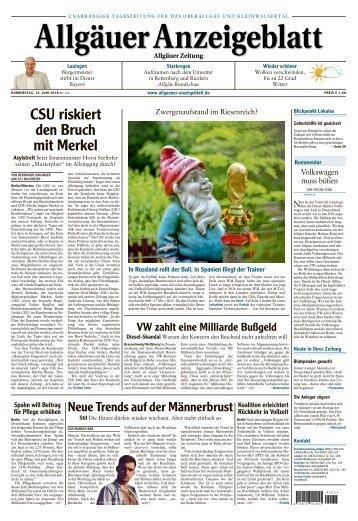 Allgäuer Anzeigeblatt vom 14. Juni 2018