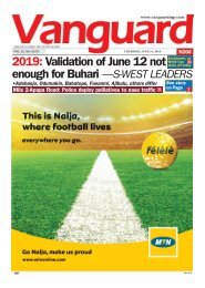 14062018 - 2019: Validation of June 12 not enough for Buhari  - S.W LEADERS