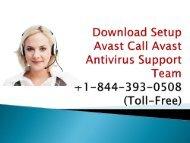 Download And Setup Avast +1-844-393-0508