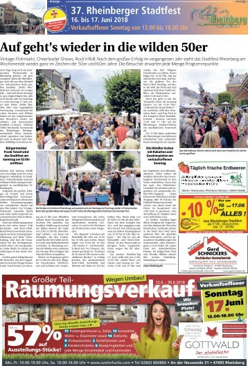 37. Rheinberger Stadtfest  -14.06.2018-
