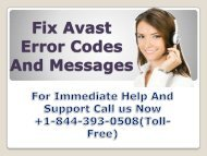 Fix Avast Error Code And Messages +1-844-393-0508