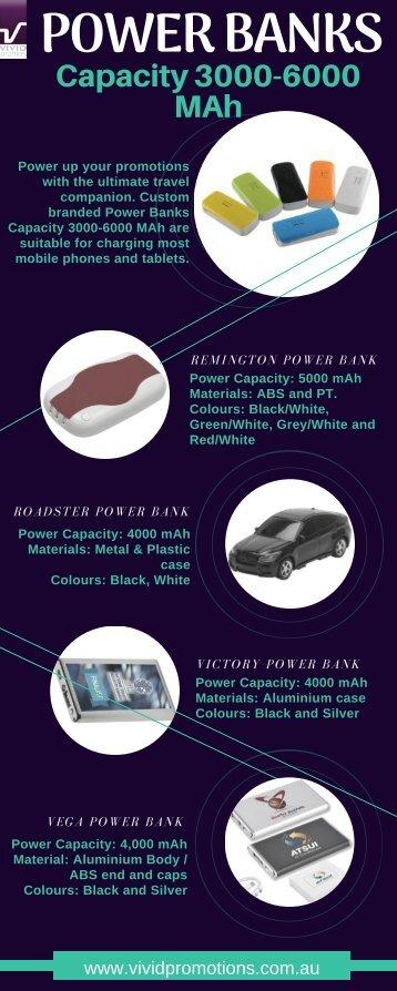 Personalised Power Banks With Capacity 3000-6000 MAh