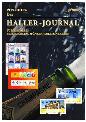 HALLER-Journal 2008 Ausgabe 2 (2.71 MB) - Briefmarken HALLER