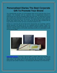 Personalized Diaries The Best Corporate Gift To Promote Your Brand