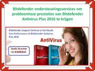 Bitdefender Support Services to Get Hassle Free Performance of Bitdefender Antivirus Plus 2016