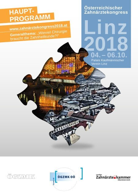 Hauptprogramm Zahnärztekongress 2018 in Linz