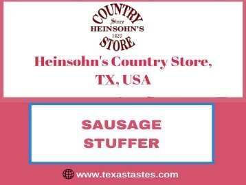 Sausage Stuffer from Heinsohn's Country Store-More power-More speed