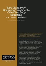 Lipo Light Body Sculpting Treatments - New You Body Sculpting