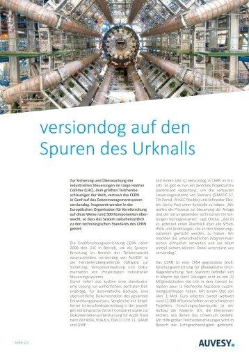 Anwenderbericht - versiondog auf den Spuren des Urknalls am CERN